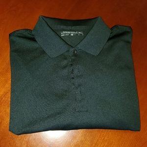 Black long-sleeve Nike polo shirt XL